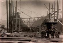 Весной 1896 года ледокол был в разобранном виде доставлен в село Лиственичное,( на некоторых старых фотографиях -Листвяничное) здесь и началась его сборка.