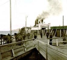 С началом гражданской войны паром находился в распоряжении красных и был ими вооружён пушками и пулемётами.В августе 1918 года, ледокол был расстрелян отступающими бело чехами  и сгорел у пристани Мысовая но не затонул.